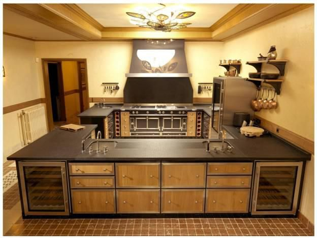 Chateau Cooker In Chocolate Brown Amongst La Cornue Cabinetry.
