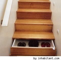What a GREAT IDEA!!!  These could be painted to look like the book stairs & the added storage.