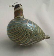 1980 MINT Rare DUCK Hand Signed IITTALA Finland Oiva Toikka Art Glass Bird Green