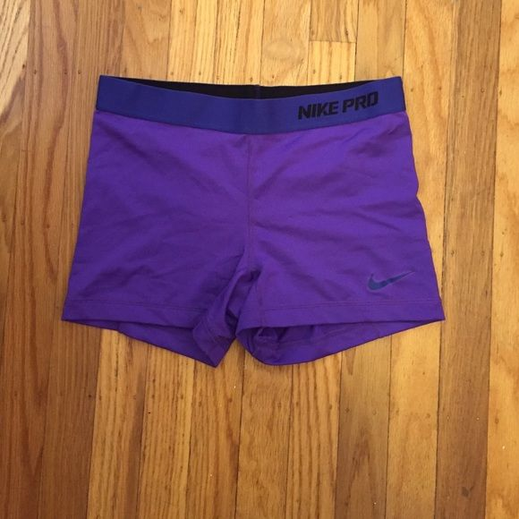 Nike Pro Shorts in Purple Nike Pro Shorts in Purple! Perfect for working out. Barely worn. Super flattering! Size Medium. Nike Shorts