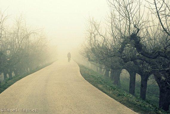 Fine Art Photography cyclist misty morning door theimperfectartistNL