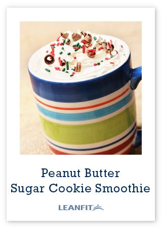 Peanut Butter Sugar Cookie Smoothie - A Christmas inspired protein shake