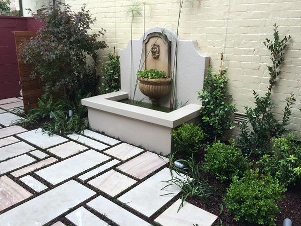 Courtyard garden design inner west sydney paving