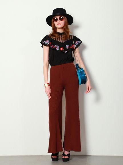 刺繍フリルトップス(プルオーバー)|Lily Brown(リリーブラウン)|ファッション通販 - ファッションウォーカー