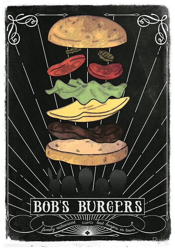 Bob's Burgers chalkboard art print