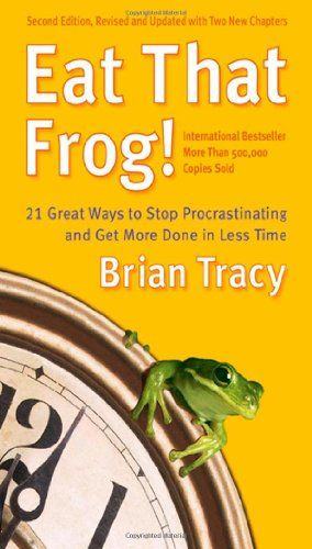 Eat That Frog!: 21 Great Ways to Stop Procrastinating and Get More Done in Less Time by Brian Tracy,http://www.amazon.com/dp/1576754227/ref=cm_sw_r_pi_dp_RJ-htb0913RB7CBJ
