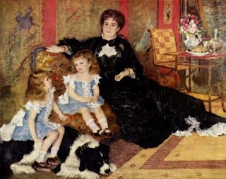Madame Georges Charpentier e suas filhas - 1878: 1878, Metropolitan Museum, Art, Pierre August Renoir, Children, Painting