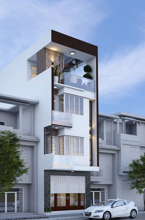 Công ty xây dựng Nguyên giới thiệu mẫuThiết kế xây nhà ống 4 tầng mặt tiền 5m. Đâyngôi nhà ống 4 tầng được thiết kế nhà với hình thức kiến trúc theo phong cách hiện đại, trẻ trung, sử dụng hình khối tạo hình khỏe khoắn, kết hợp với lan can kính, vật liệu ốp …