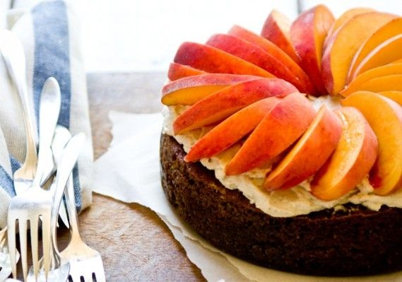 Peach and Ginger Pecan Cake • The Answer is Cake