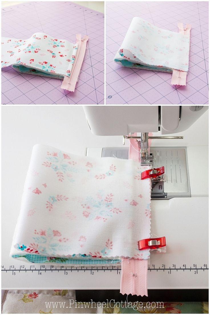 How to sew a triangle zipper bag, free zipper bag …