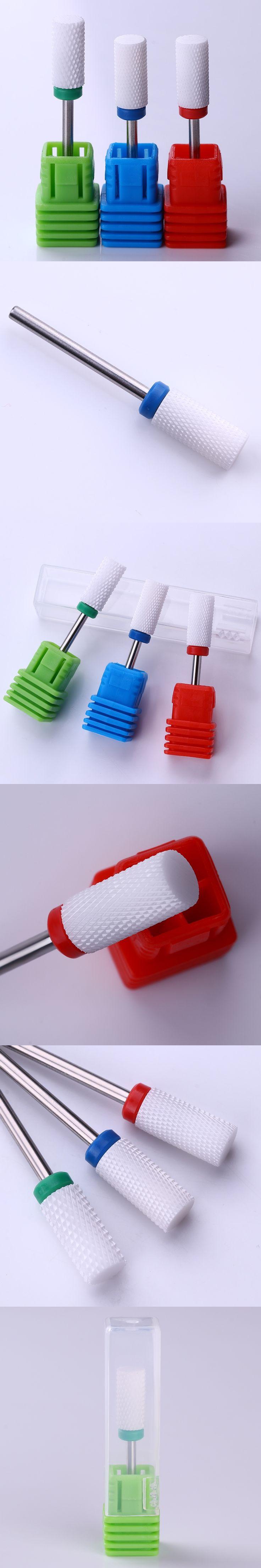 Ceramic Nail Drill Bit Mill File for Electric Drill Machine Accessories Manicure Nail Art Tools