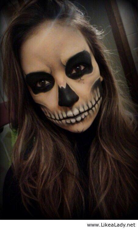 Skelett makeup