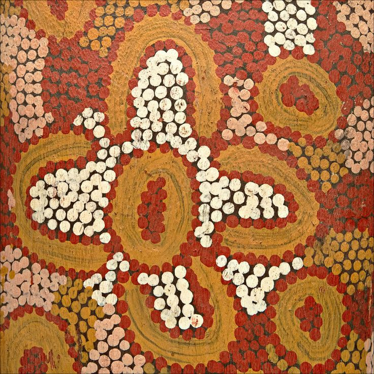 Central Australian Aboriginal Papunya Dot Painted Coolamon Shield