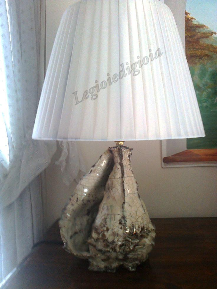 lampada conchiglia ceramica RAKU