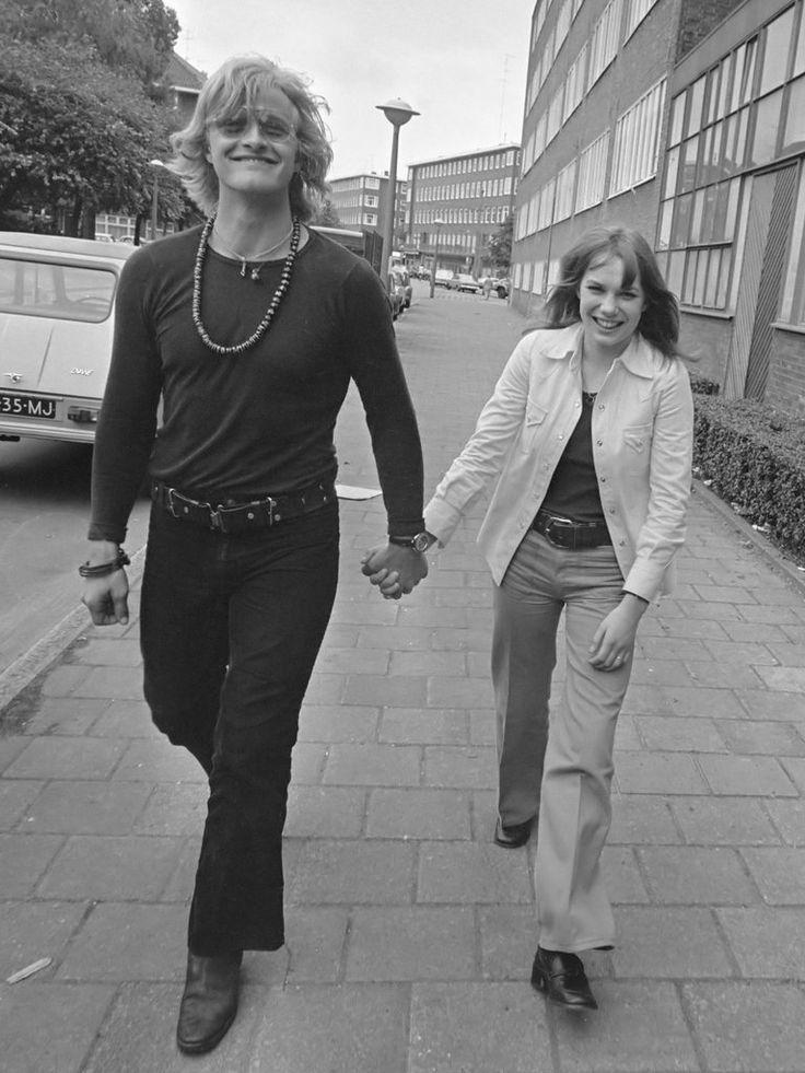 Rutger Hauer and Monique van de Ven during the shooting of Paul Verhoevens Turkish Delight (1973)