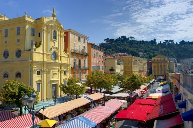 Here's a guide to the 10 Top Attractions and Events in Nice, south of France: The Cours Saleya Market