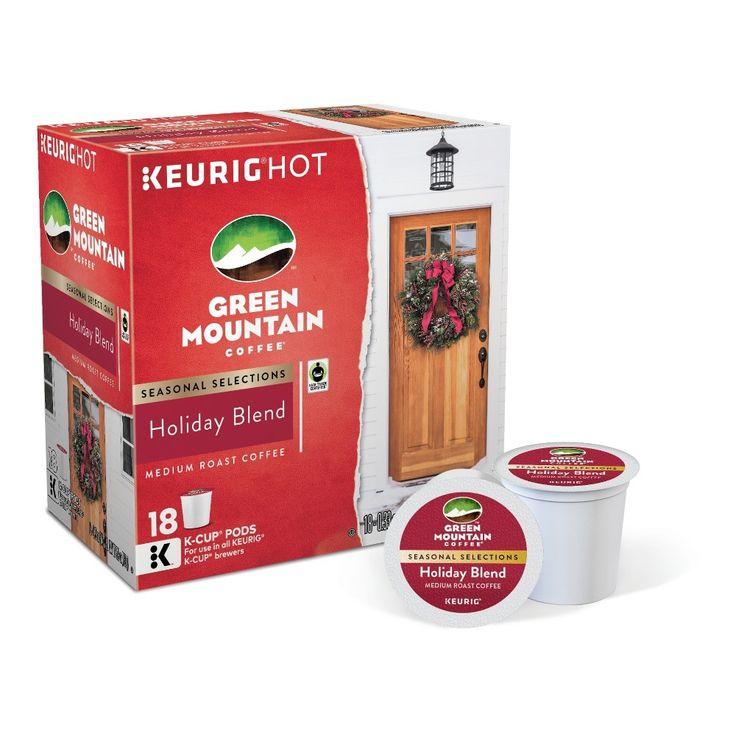 Green Mountain Holiday Blend Medium Roast Coffee Keurig K-Cup Pods - 18ct