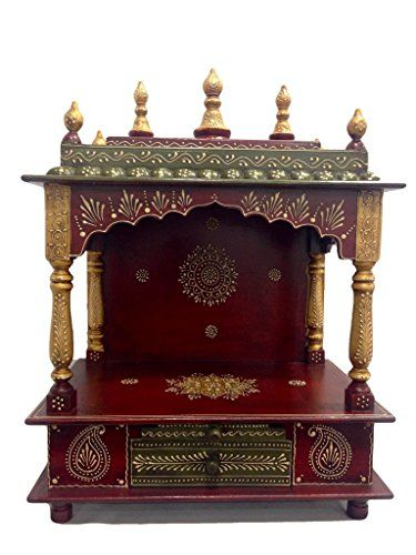 Wooden Handcrafted Maroon Temple, Mandir, Pooja Ghar for Homes, Offices, Shops Shivay Arts http://www.amazon.com/dp/B0151PZ3AK/ref=cm_sw_r_pi_dp_Blr8vb1FSART8