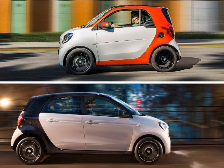 New Smart fortwo and forfour