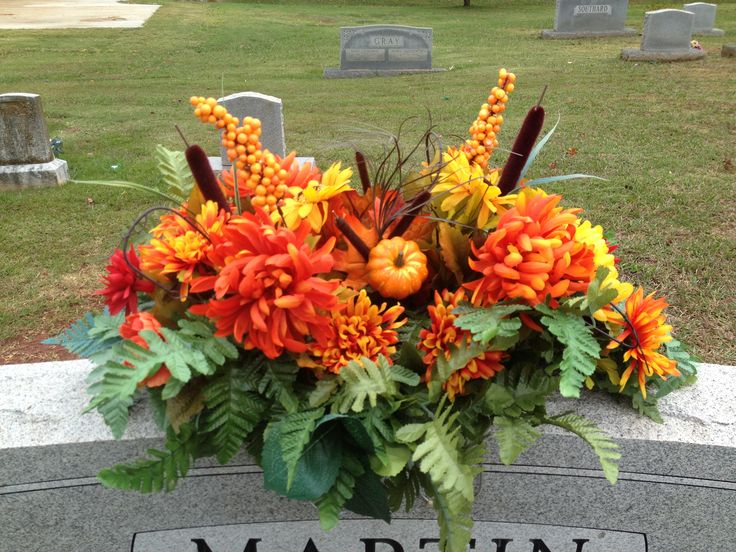Memorial Day Silk Flowers Cemetery