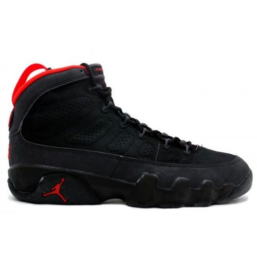 130182-001 Air Jordan 9 (IX) Retro Black Dark Charcoal True Red A09001