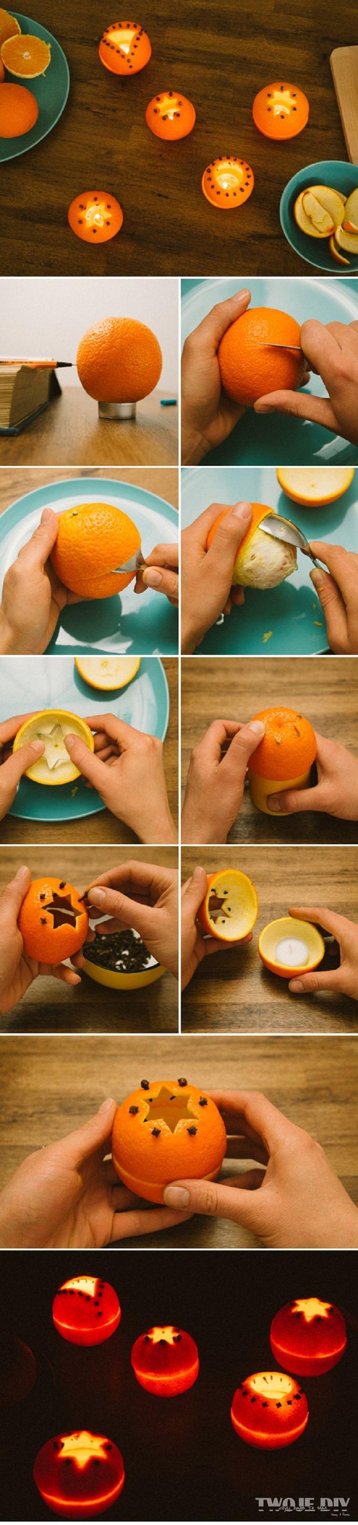 Pomarańczowe świeczniki