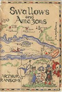 Swallows and Amazons. Amazing adventure series by Arthur Ranson. Heavy on the sailing and adventuring. <3