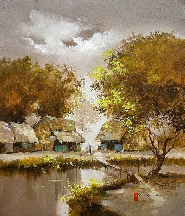 Dang Can 1957 Peinture Paysage Peinture Maison Et Art Asiatique
