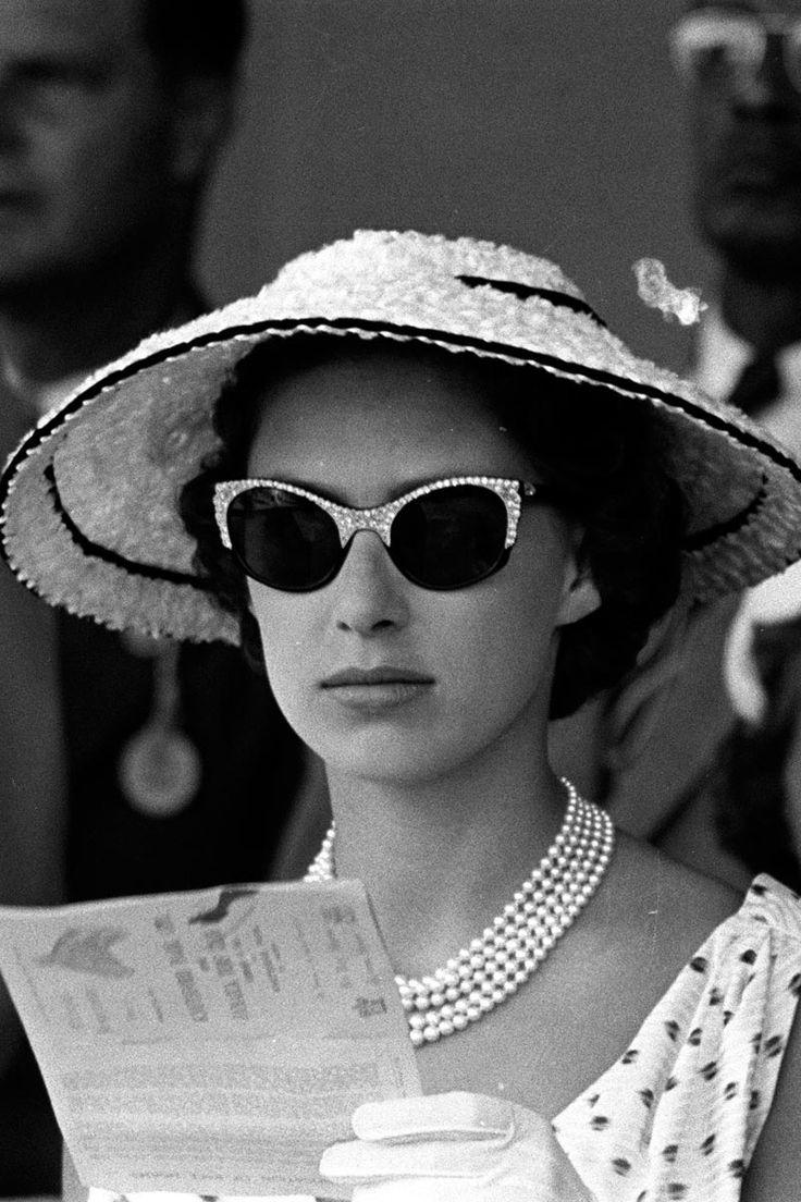 Princess Margaret Wearing Diamond Encrusted Cats Eye