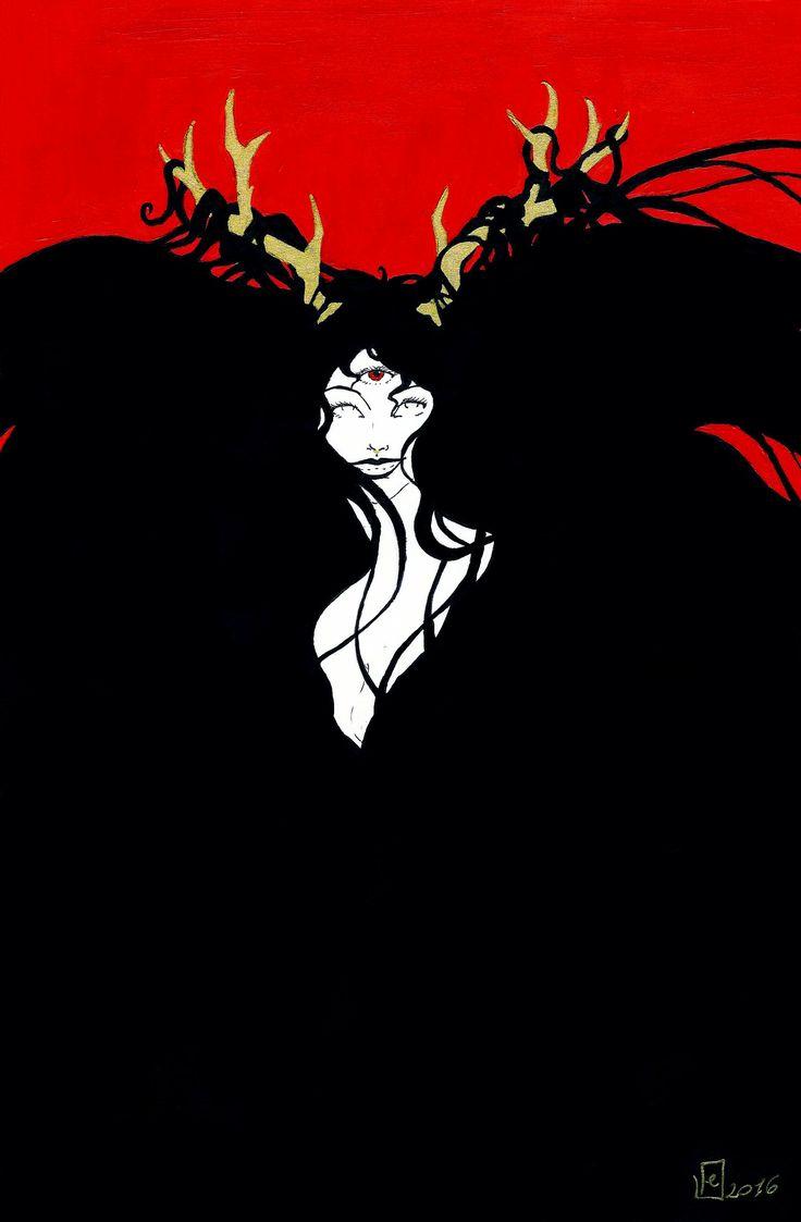 i started watching Salem...   #witch #demon #demonwitch? #acrilic #paint