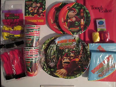 Complete Party Sets and Kits 26394: Donkey Kong Country Returns ! - Birthday Party Supply Super Deluxe Kit ! -> BUY IT NOW ONLY: $45.59 on eBay!
