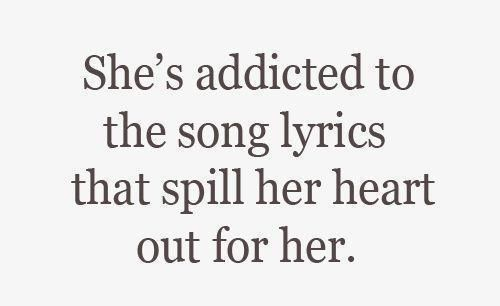 More like... addicted to songs that me tingle... :-\
