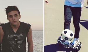 Brooklyn Beckham shows off football skills... 1