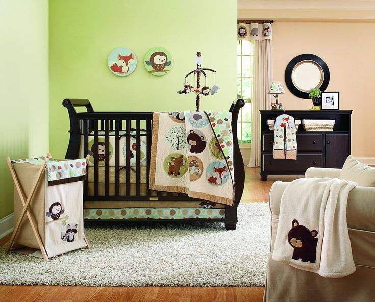 Baby Room Decorating Carter S Forest Friends Crib Set And Accessories