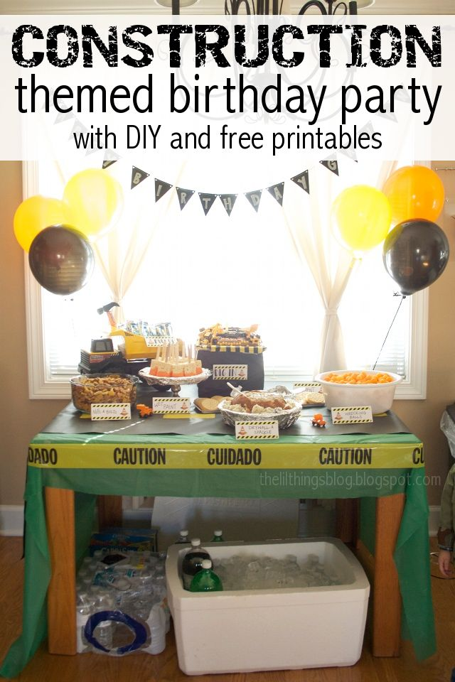 Construction Birthday Party Printables!  #partyprintables #DIYparty #Constructionprintables #constructionbirthday