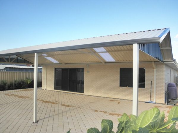 A new gable roof patio fabricated by the Patio   Factory, Perth WA