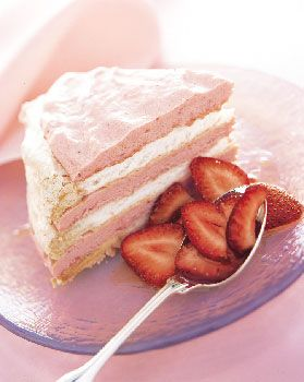 Frozen Vacherin Torte with Rhubarb Cream