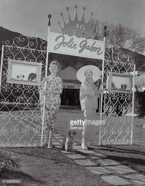 The Gabor sisters get together in their Palm Springs jewelry salon in the heart of downtown Palm Spring | Gabor Foursome Pictures | Getty Images
