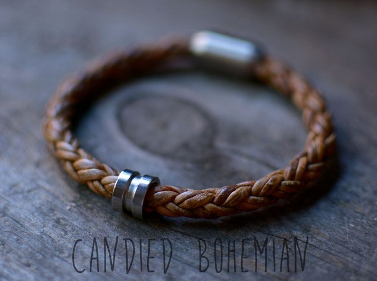 CATCH THE BULLET | Mens Leather Bracelet, Braided Leather Bracelet, Mens Jewelry, Gift for Him, Boho Men, Hipser Bracelet, Candied Bohemian, Mens Fashion, Mens Style, Dope Men, Cool Men, Braided Leather Bracelet, Cool Men Bracelets, Mens Jewellery, Mens Jewelry, Swag Men, by CandiedBohemian on Etsy