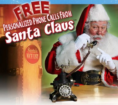Looking for something to get your kiddos excited about Christmas? You can get a FREE personalized phone call from Santa! Schedule it for a special time too! You can choose from 6 different kinds of messages: * Call will not be finalized until you confirm your email   Thanks Hip2Save!