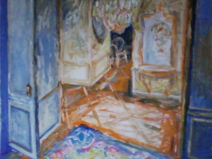Aubusson Blue Gallery, 70/80,cm, acrylic/canvas, 2014