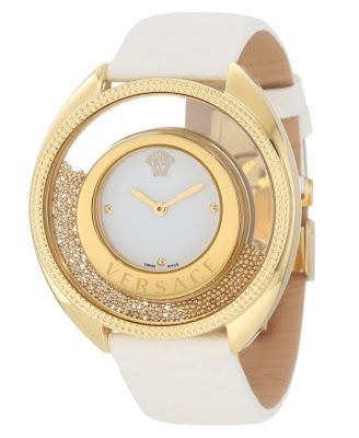 Beautiful Gold and White Versace Women's Watch #gold #white #accessories #watch #luxe