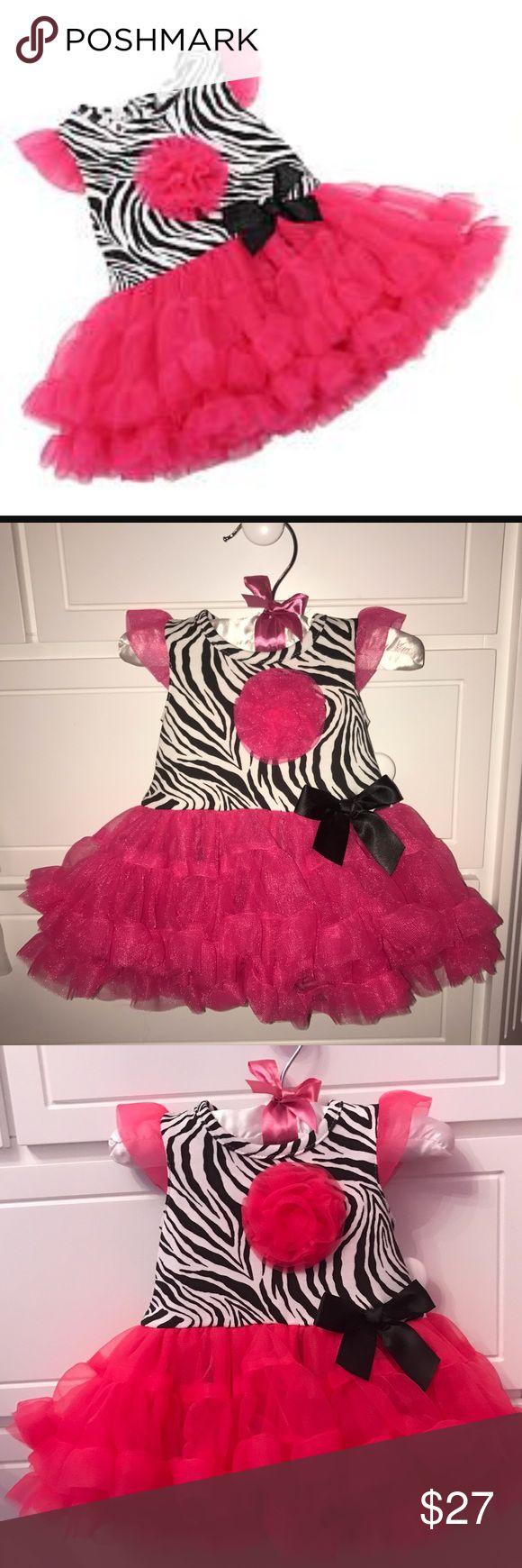 High end Zebra Print Pink Tutu Bodysuit Dress NWT Babyrageous Girls Black/White Zebra Print Pink Tutu Bodysuit Dress. Snap closure In back and on bottom of onesie. Size NB. Exclusive for Babys R us. Babyrageous Boutique One Pieces Bodysuits