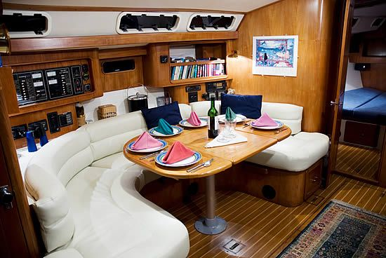 Live Aboard Sailboat Interior White With Accents Live