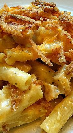 Easy French Fried Onion Chicken, Noodles and Cheese Casserole
