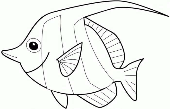 Angel Fish Coloring Pages Fish Coloring Page Coloring Books Disney Coloring Pages