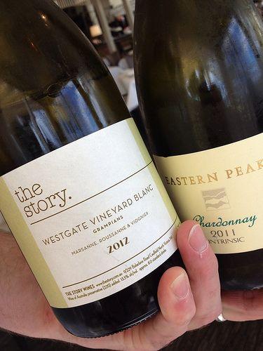 The Story - Westgate Vineyard Blanc. Region - Grampians, Victoria, Australia / Eastern Peak. Region - Victoria, Australia. [Lake House - Daylesford, Victoria, Australia]