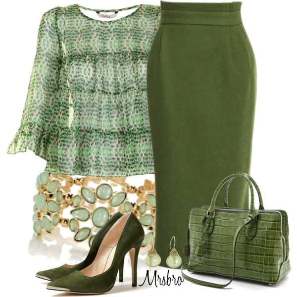 """""""Green ..."""" by mrsbro on Polyvore"""