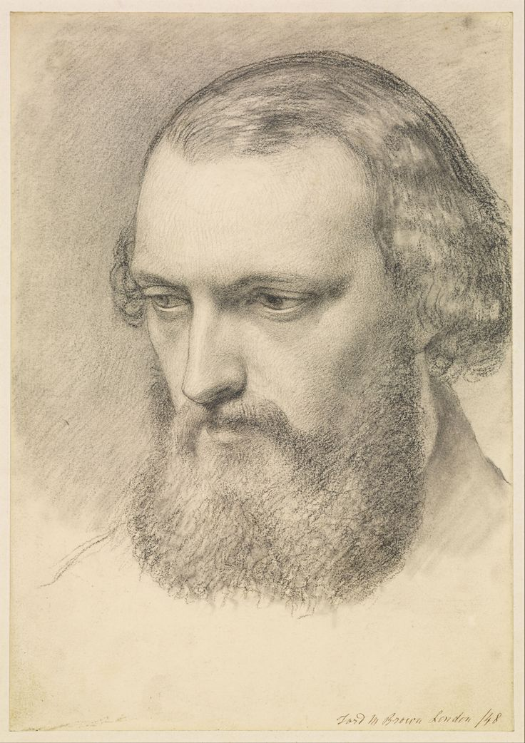 by Ford Madox Brown 'Portrait Head Study of Daniel Casey (Three-quarter View)'