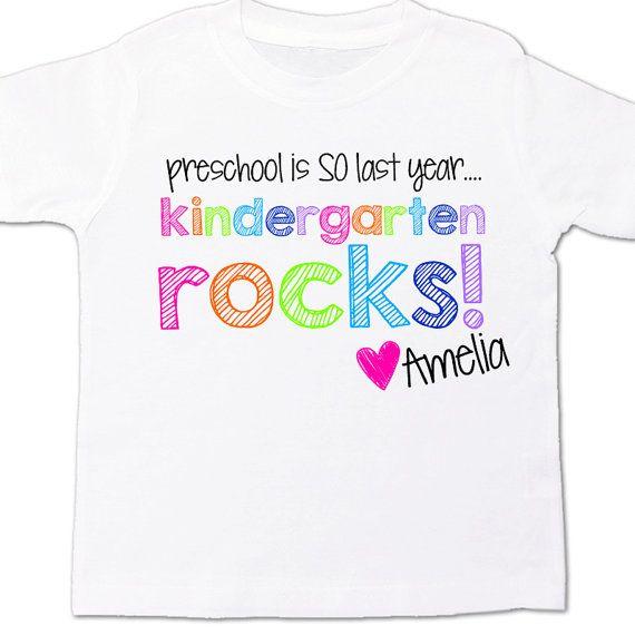 kindergarten shirt - preschool is so last year - back to school t shirt on Etsy, $16.50